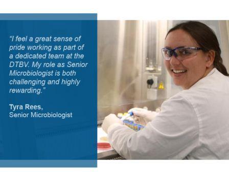 Tyra Rees, Senior Microbiologist, DTBV